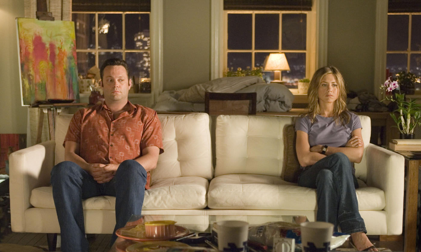 "Vince Vaughn and Jennifer Aniston in ""The Break-Up."""