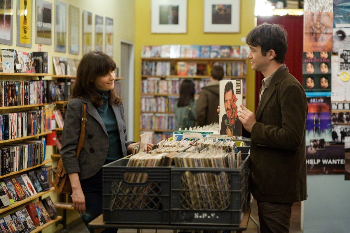 Zooey Deschanel, Joseph Gordon-Levitt (and Ringo Starr) in (500) Days of Summer.