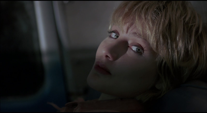 Jenny Wright in a scene from Near Dark.