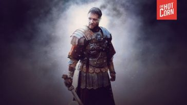 Russell Crowe in a scene from Gladiator.