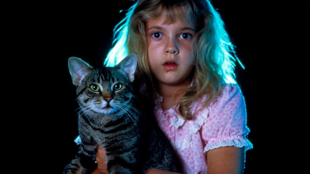 A young Drew Barrymore in a scene from Cat's Eyes wrote by Stephen King