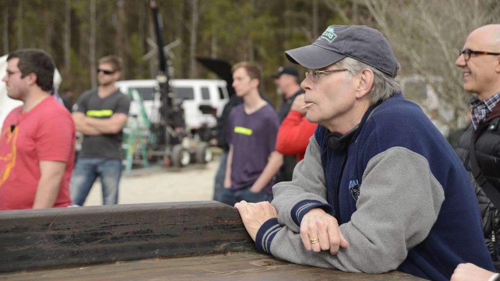 Stephen King on Under The Dome set, the 58th book published by the author.