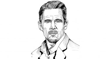 Ethan Hawke. Illustration by Jonathan Fehr