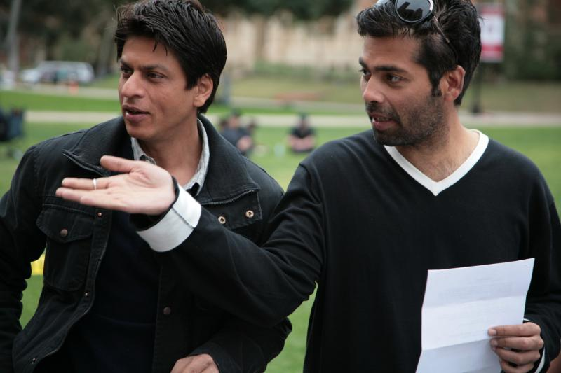 Karan Johar on set