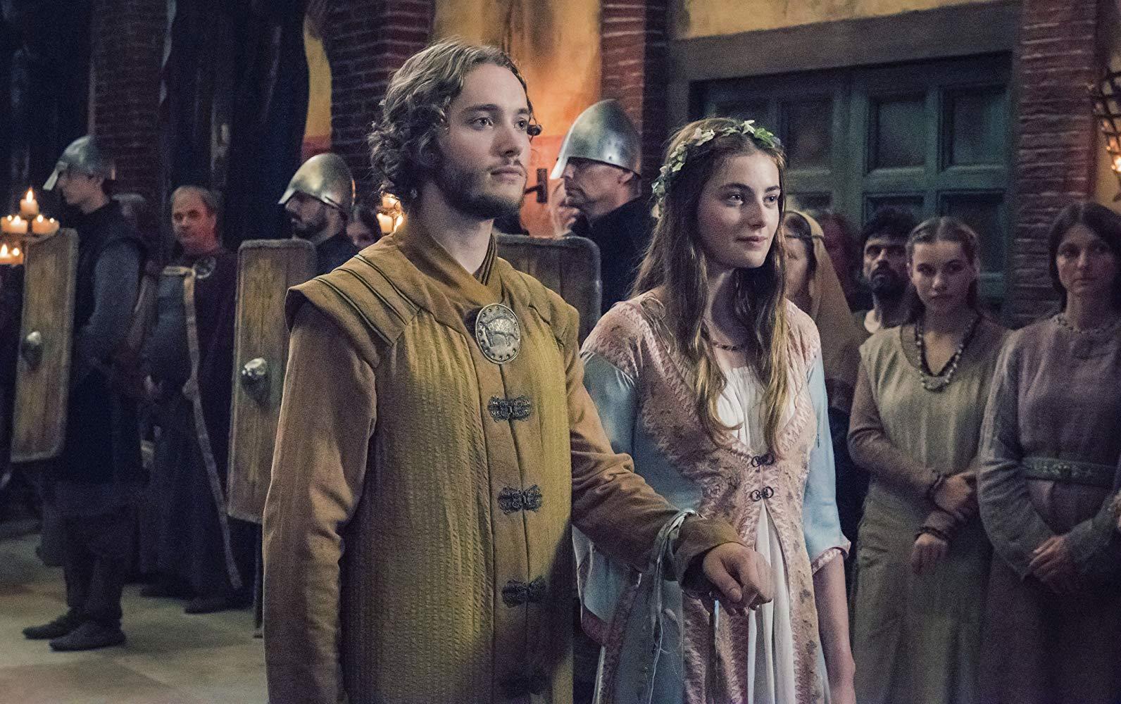 Toby Regbo and Millie Brady in The Last Kingdom.