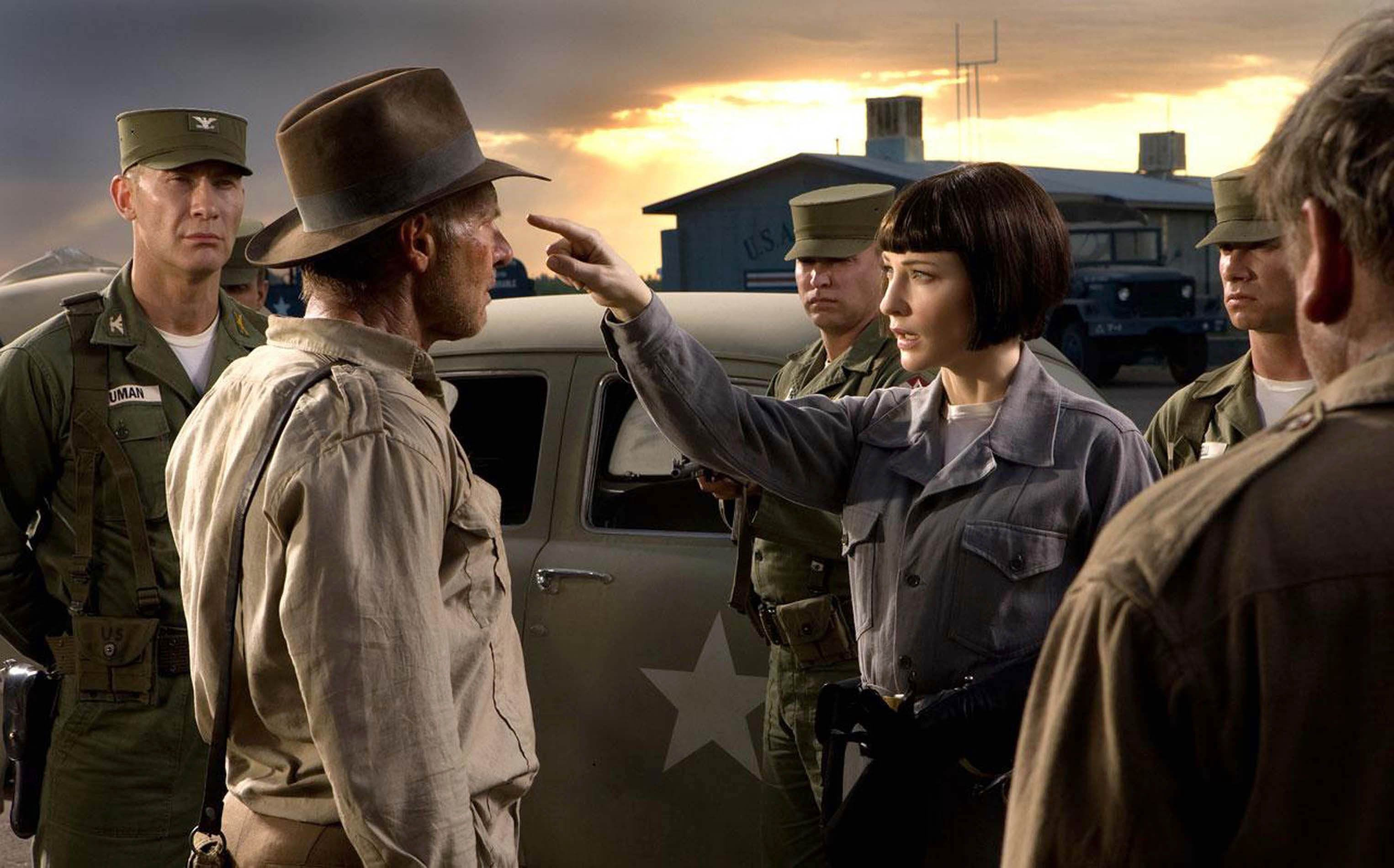A scene from Indiana Jones
