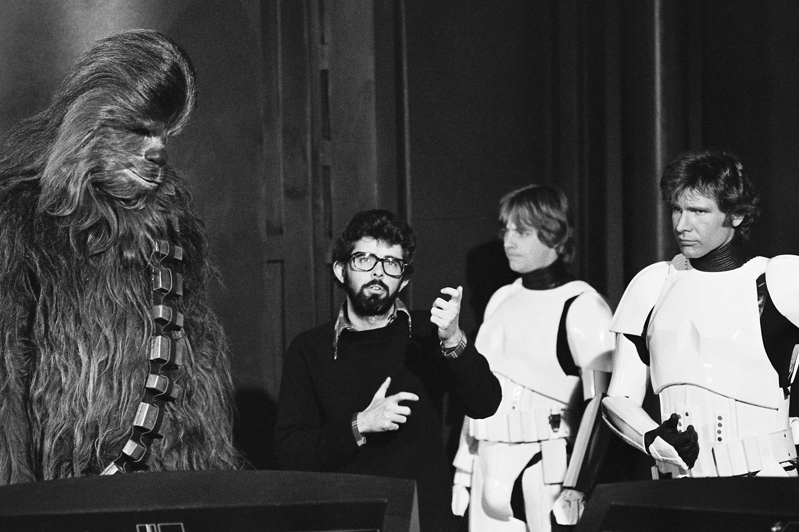 Harrison Ford on Star Wars set