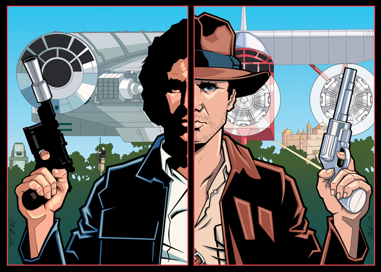 Harrison Ford in an artwork by William O'Neill