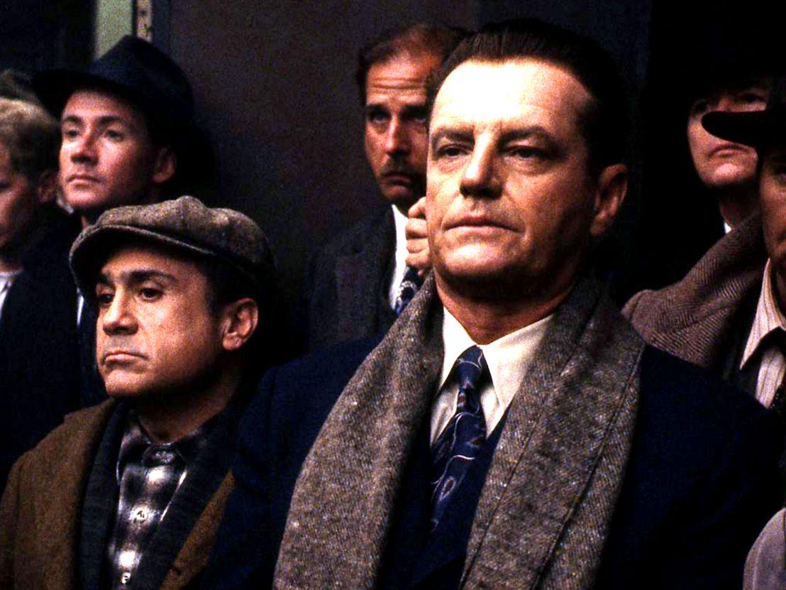 Danny DeVito and Jack Nicholson in Hoffa (1992)