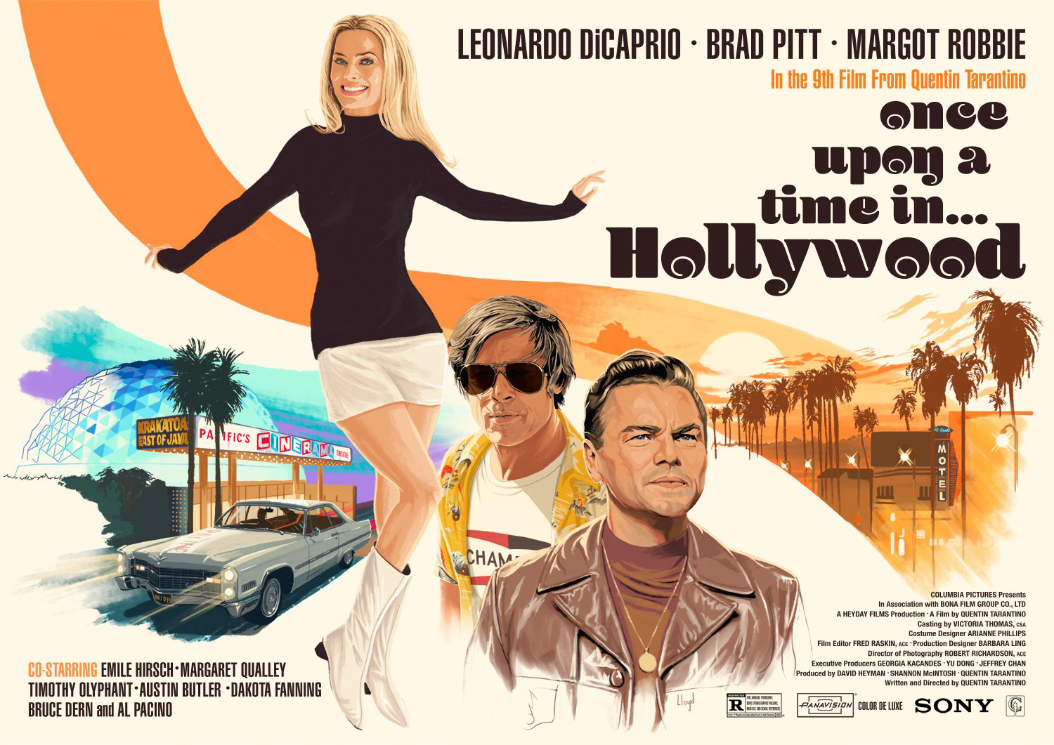 ONCE UPON A TIME IN HOLLYWOOD BRAD PITT MOVIE POSTER FILM CINEMA